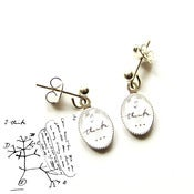 Image of Charles Darwin 'I Think' Earrings