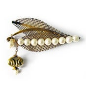 Image of Pearl Leaves Brooch by Joli Jewelry