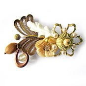Image of Pearl Flower Brooch by Joli Jewelry
