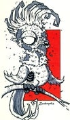 Image of Zombie Cockatoo Print