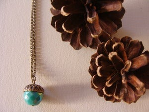 Image of Acorn turquesa Colgante / Necklace
