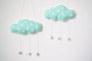 Image of Mobile nuage Baby Cloud Couleur AQUA