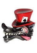Image of Wolf in Top Hat - Passion Red