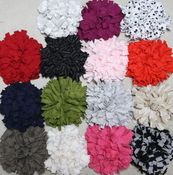 Image of ruffled mum pins - 15 colors to choose from!