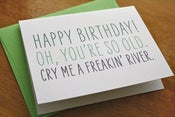 Image of Cry Me a River Card