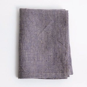 Image of Linen Chambray Towels: Purple