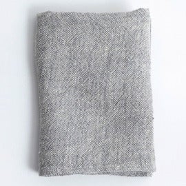 Image of Linen Chambray Towels: Grey