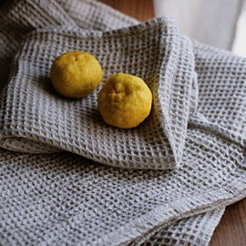 Image of Linen Waffle Towels: Natural