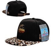 Image of NEW! Pink Dolphin Waves Leopard Strapback Hat Collection