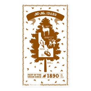 Image of Idaho State Towel