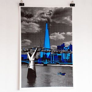 Image of 'The Shard' screen print