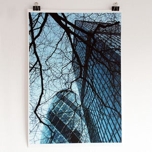 Image of 'The Gherkin' A2 giclee print