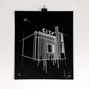 Image of 'City black' screen print