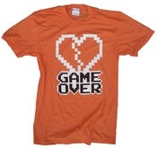 Image of 8 Bit Apparel Game Over Tee in Heather Orange
