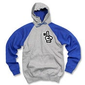 Image of Number 1 Chenille Hoodie (gray/blue)