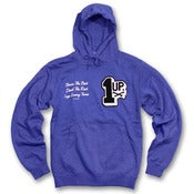 Image of 1up Chenille Hoodie (blue)