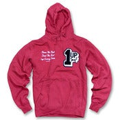 Image of 1up Chenille Hoodie (red)