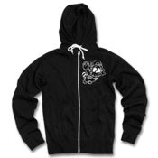 Image of GhostFace Chenille Zip Hoodie (black)
