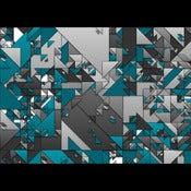 Image of the Triangle Grid, Teal