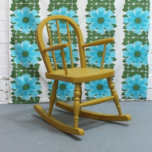 Image of Vintage Child's Rocking Chair - SOLD
