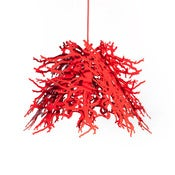 Image of Abstraction LED Pendant light (red)