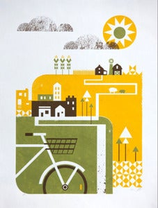 Image of 2011 Artcrank Bike-themed Poster by Basemint Design 