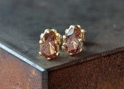 Image of Color-Change Garnet Stud Earrings