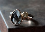 Image of Black Diamond Ring in 14kt Rose Gold