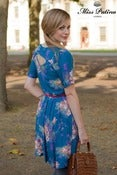 Image of Floral Affair Dress (teal lily)