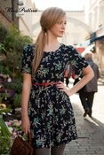 Image of  Floral Affair Dress (black tulip)