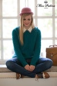 Image of 'Forget me Not' Oversized Chunky Knit Jumper (teal)