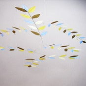 Image of Evening Light Leaf Mobile by Moon-Lily Silk Mobiles