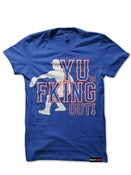 Image of YU're Fking Out! Tee BLUE