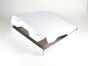 Image of White Pizza Boxes