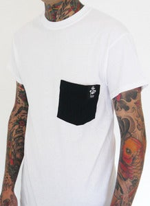 "Image of ANCHORS AWEIGH RECORDS ""Neptune"" pocket t shirt"