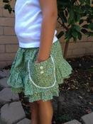 Image of Green Floral Ruffled Mini