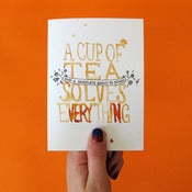 Image of Cup of Tea Greetings Card