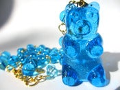 Image of Gummy Bear necklace Blue Rasberry