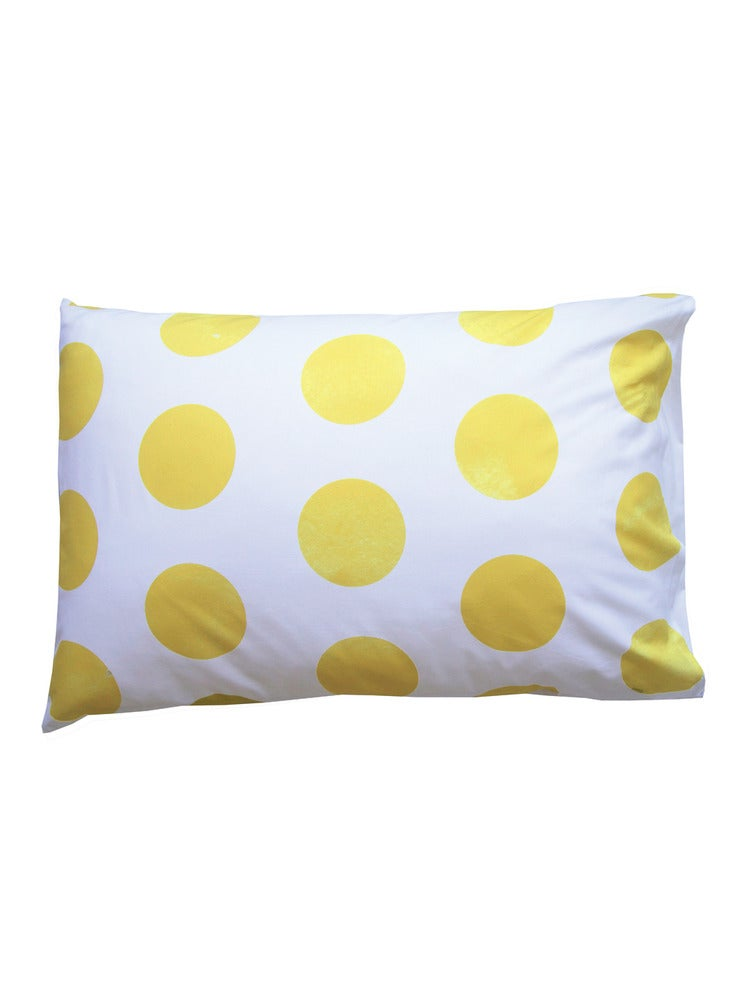 Image of YELLOW POLKS DOT PILLOWCASE