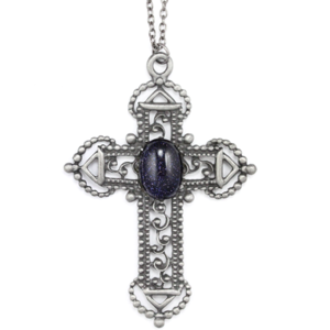 Image of Ramona. Huge Gothic Cross Necklace