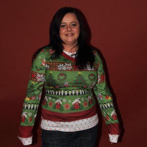 Image of Ugly Christmas Sweater Ladies T-SHIRT