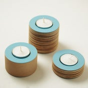Image of NEW Blue tea light holders