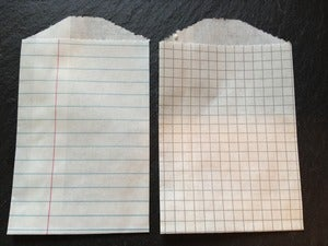 Image of Tiny Treat/Goody Bags - Notepad and grid paper (2.75x4&quot;)
