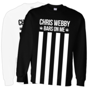 Image of Chris Webby &amp;#x27;Bars And Stripes&amp;#x27; Crewneck Sweatshirt w/Leaf
