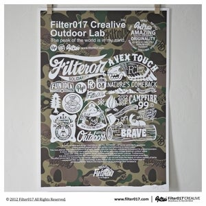 Image of Filter017「FCL OUTDOOR LAB」Screen Printing Poster-Camouflage the Classic (camouflage)