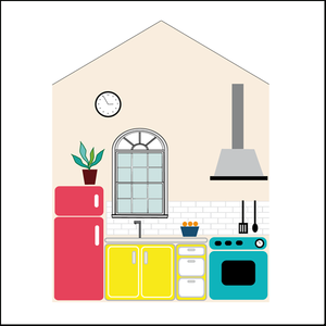 Image of Mini-Kitchen Home Stickers// La cocina de tu Mini-Home! (IVA INCL.)