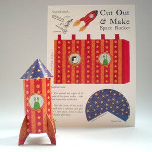 Image of Cut Out & Make Space Rocket Card