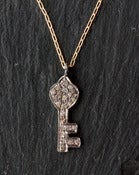 Image of Pave Diamond Key Necklace