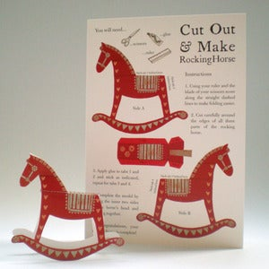 Image of Cut & Make Rocking Horse Card
