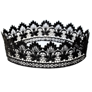 Image of Merle. Black Lace Crown